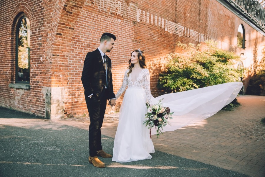 DIY wedding featured on Style Me Pretty