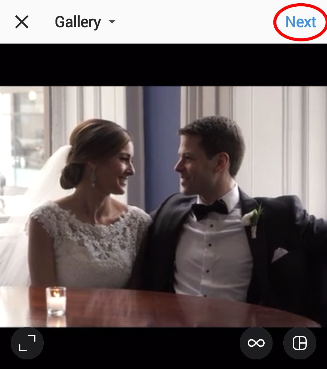 Screenshot 2016 08 24 15 45 12 - How to Post Your Wedding Trailer on Instagram